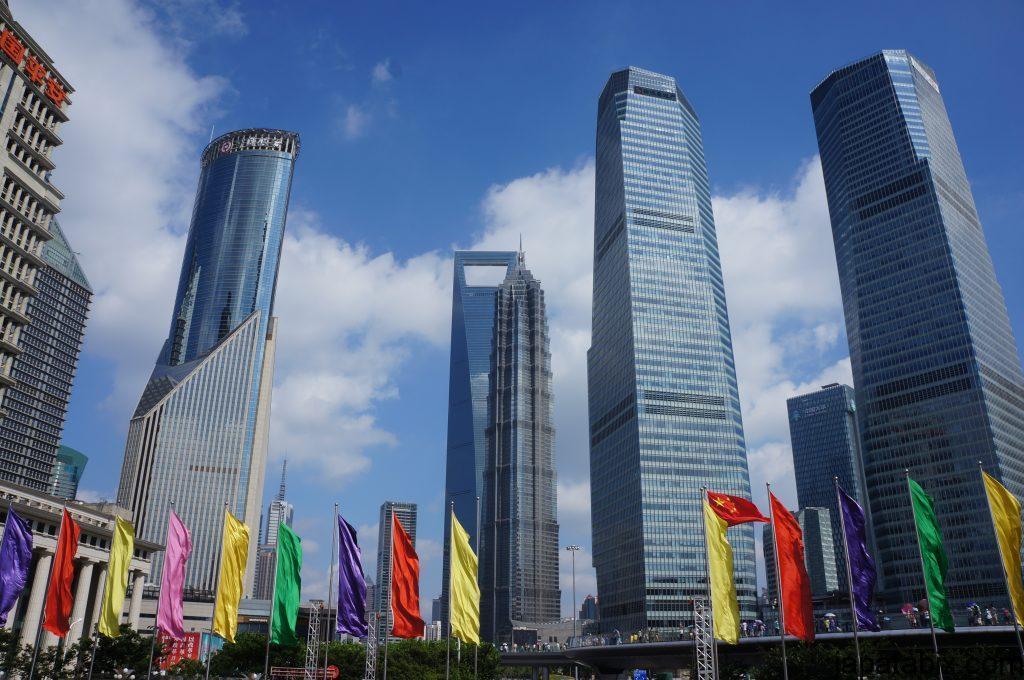レアな上海の青空