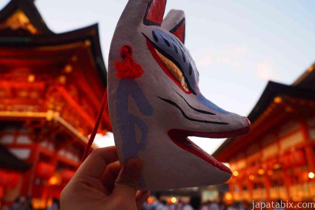 伏見稲荷大社 狐の面