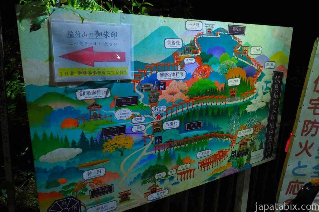 伏見稲荷大社 境内マップ