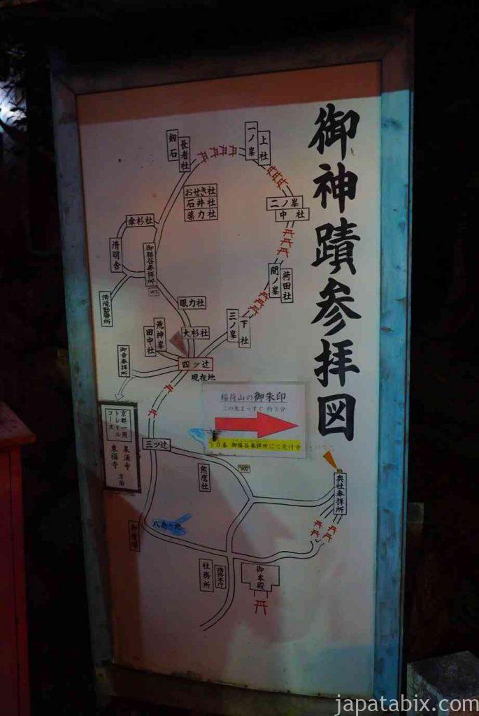 伏見稲荷大社 山頂までのルート