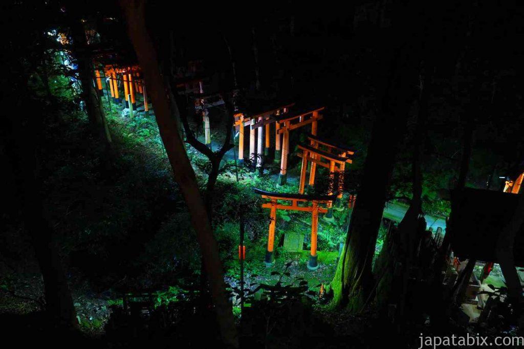伏見稲荷大社 夜の鳥居群