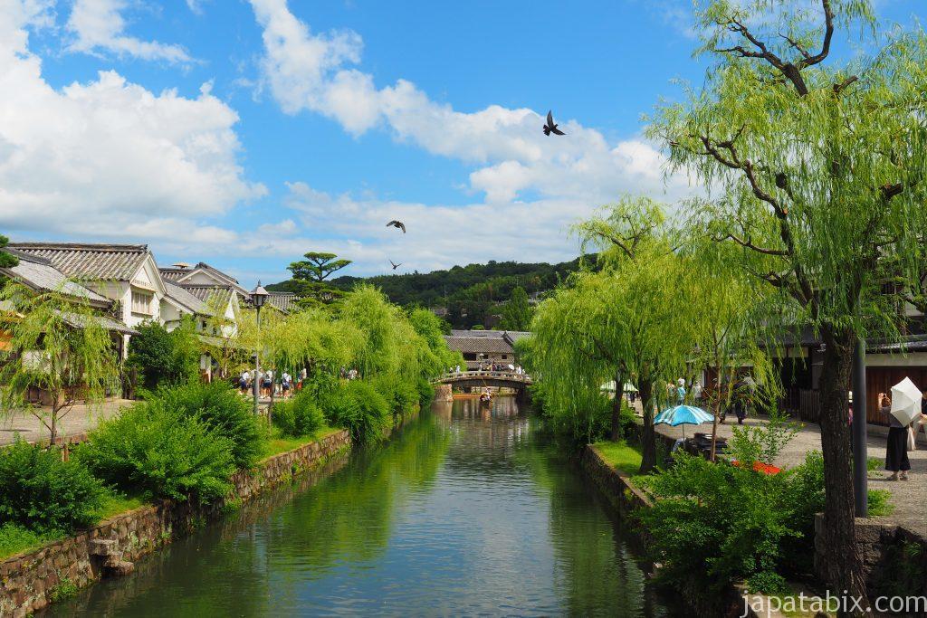 岡山 倉敷美観地区 夏の風景