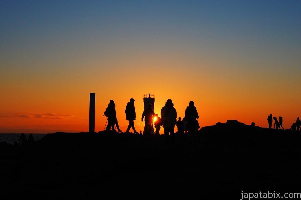 城ヶ島の初日の出