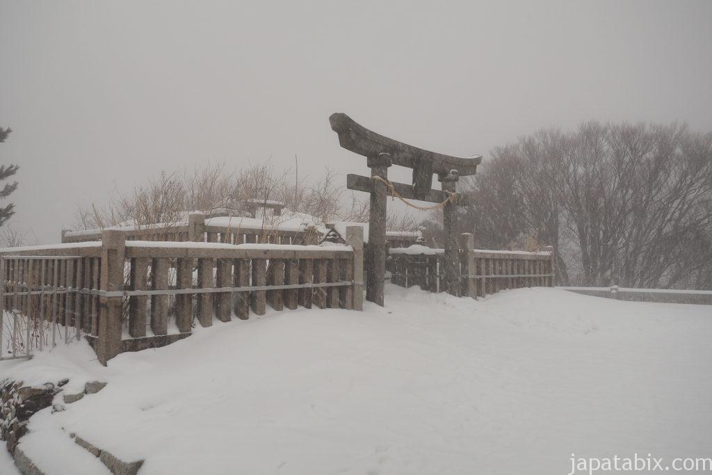 冬の弥彦山頂 奥宮