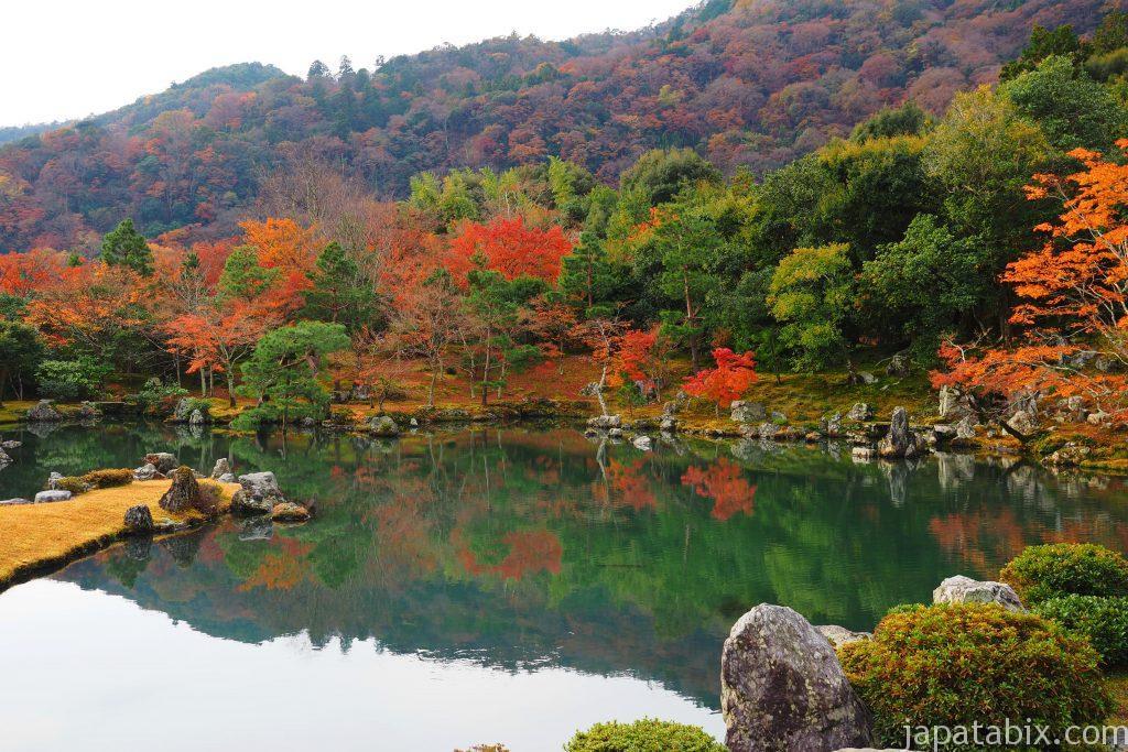 天龍寺 曹源池庭園の紅葉