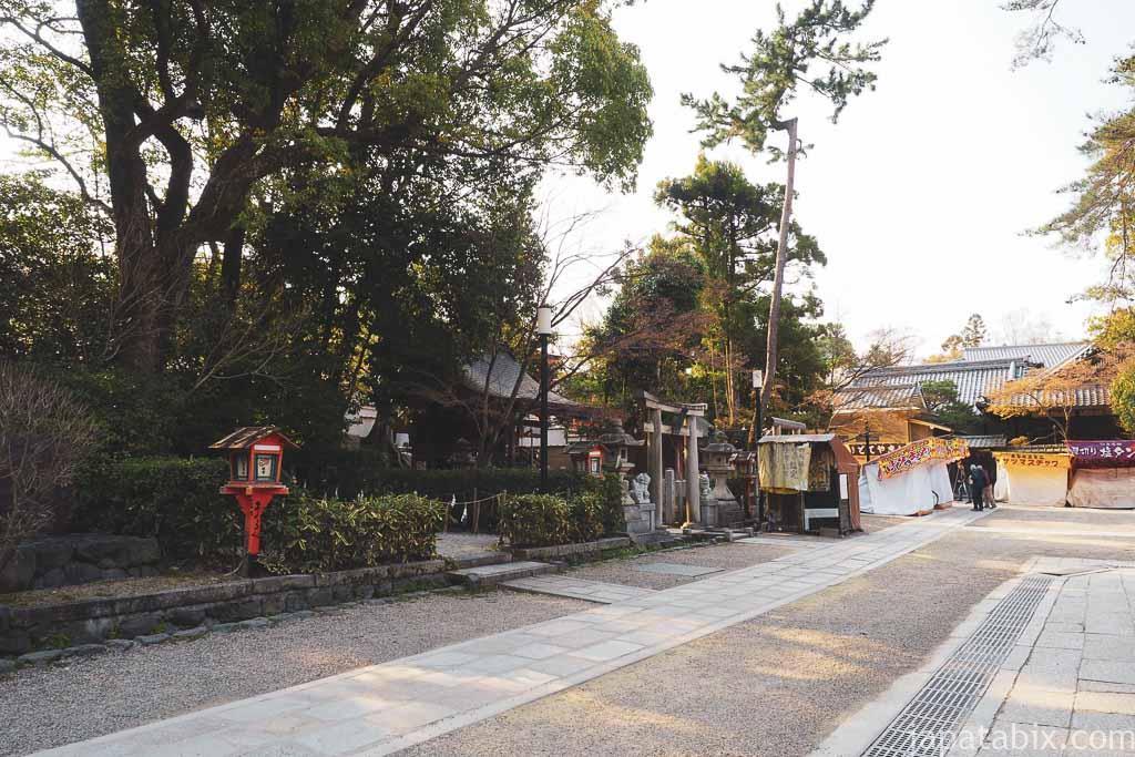 京都 八坂神社 春の早朝