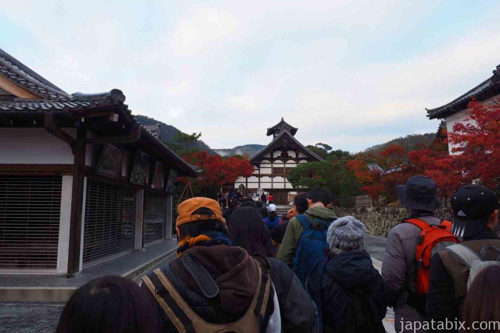 京都 嵐山 天龍寺 早朝拝観 紅葉 庫裡