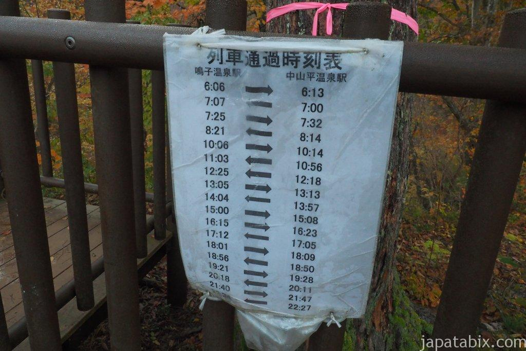 鳴子峡の列車時刻