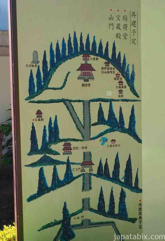 杉本寺 境内図