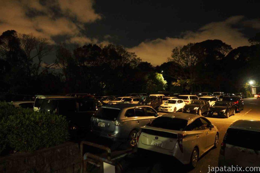 京都 東山 将軍塚青龍殿 東山山頂公園 駐車場