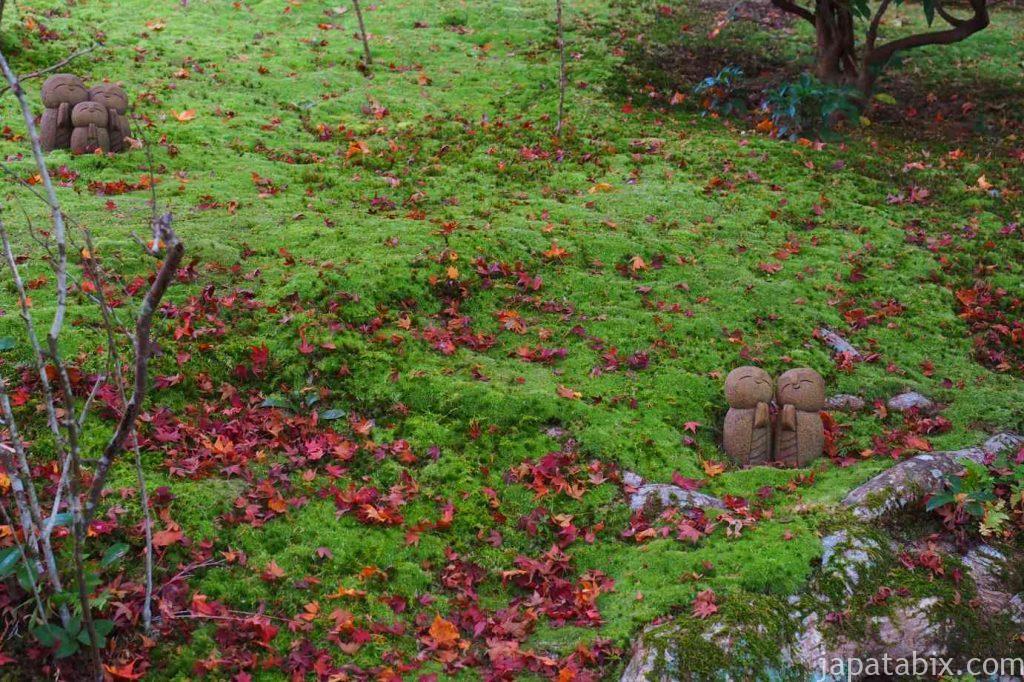詩仙堂 百花塢の苔と紅葉
