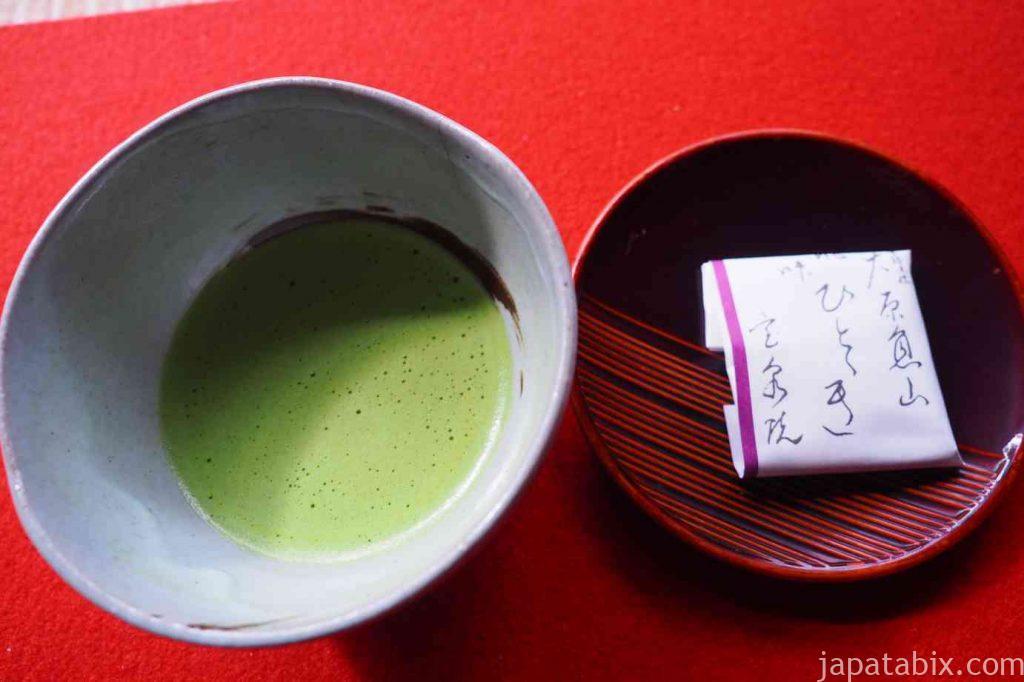 京都 大原 宝泉院 お茶菓子