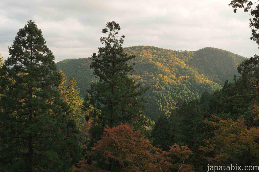 京都 鞍馬寺から見る眺望