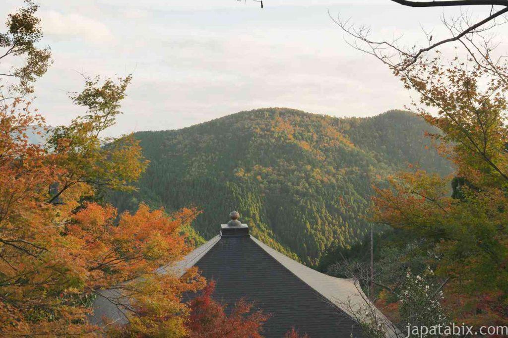 京都 鞍馬寺 紅葉 金剛床からの眺望