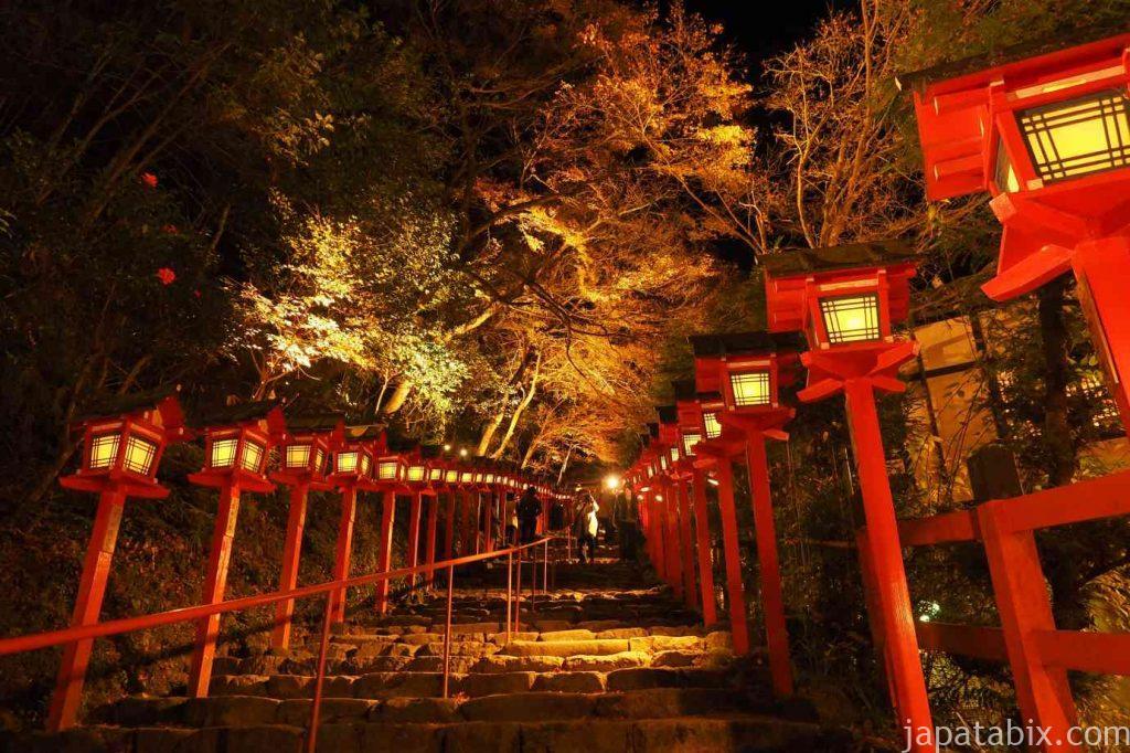 京都 貴船神社 貴船もみじ灯篭 紅葉ライトアップ