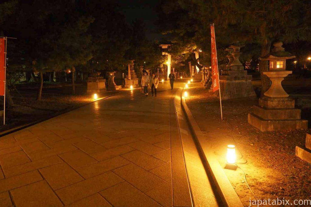 京都 北野天満宮 紅葉 ライトアップ 参道