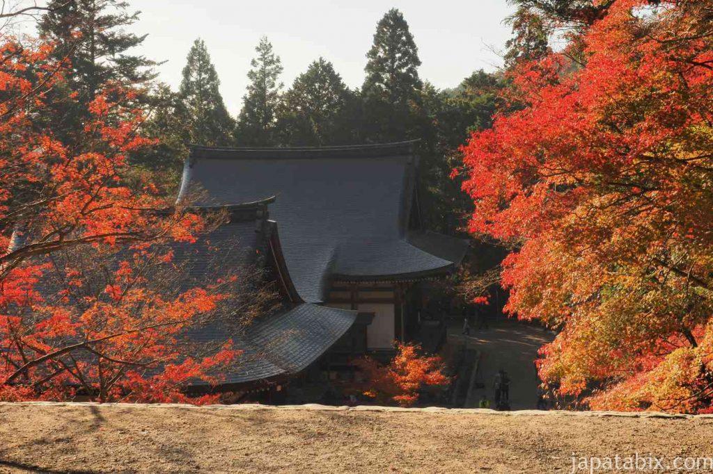京都 高雄 神護寺 五大堂と毘沙門堂と紅葉