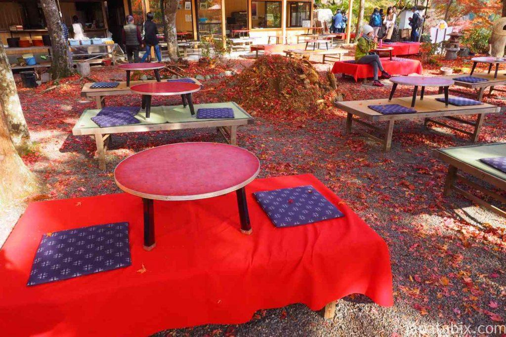 京都 高雄 神護寺 硯石亭の紅葉