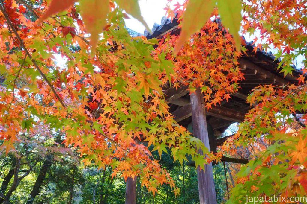 京都 高雄 西明寺 紅葉 鐘楼
