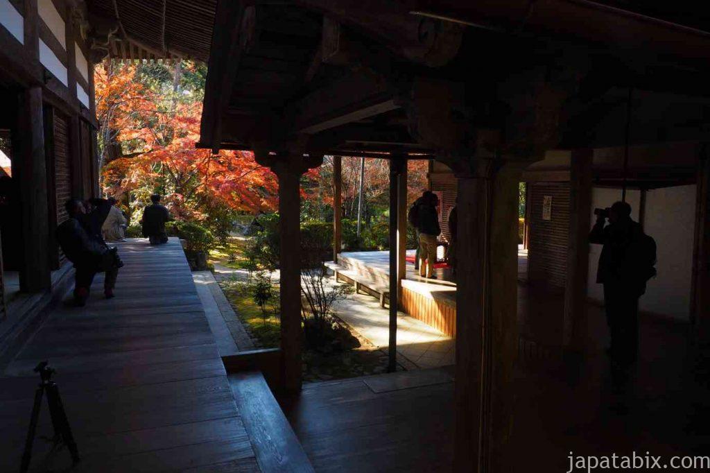 京都 高雄 西明寺 本堂 紅葉