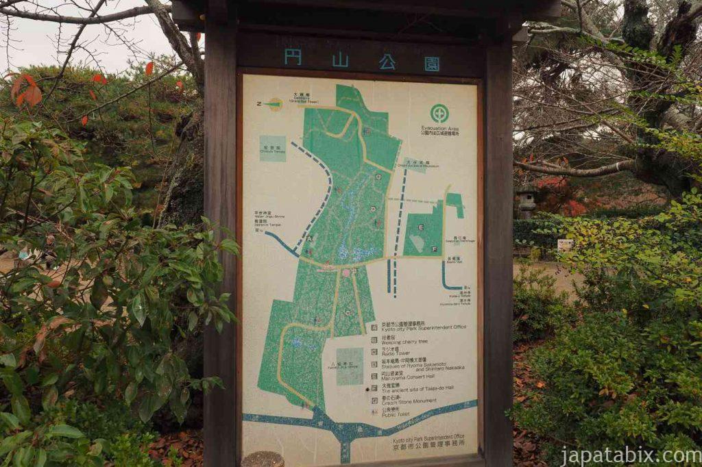 京都 東山 円山公園 地図