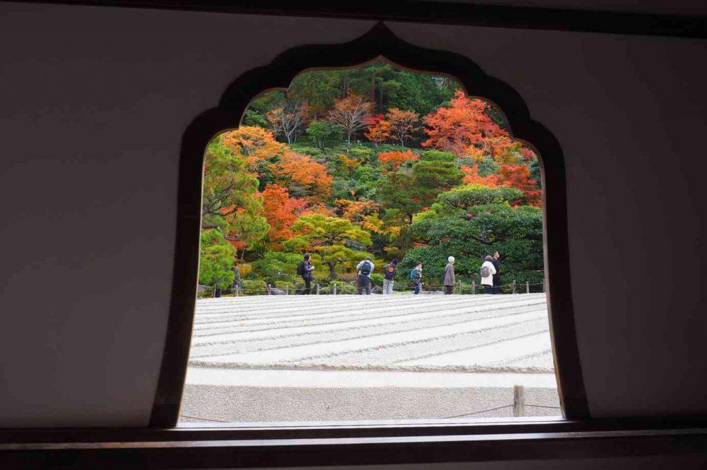 京都 銀閣寺 銀沙灘・向月台