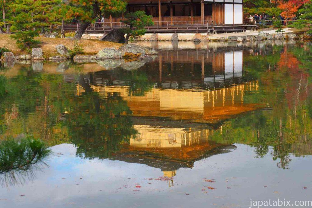 京都 金閣寺 逆さ金閣
