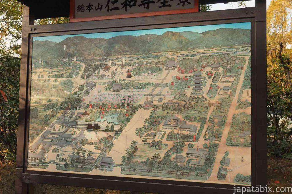 京都 仁和寺 境内図