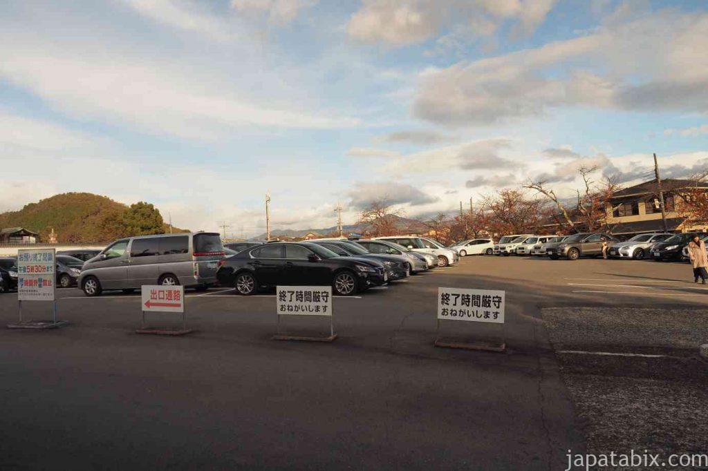 京都 仁和寺 駐車場