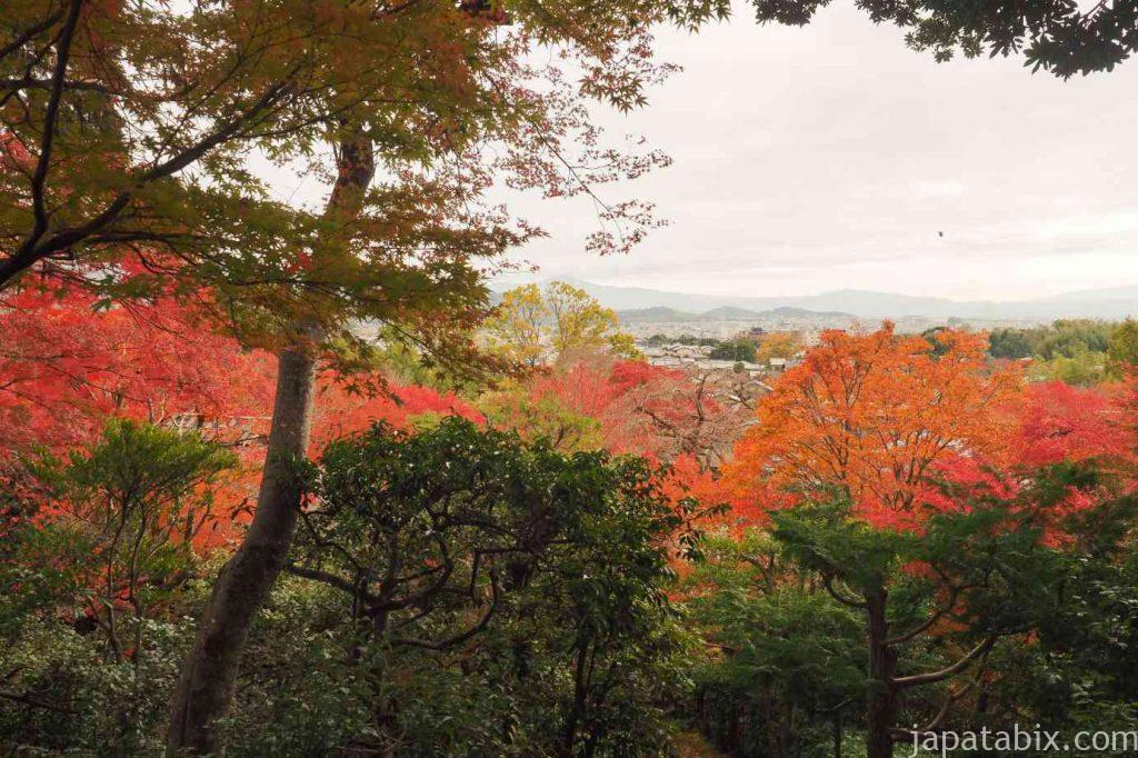 京都 嵯峨 常寂光寺 妙見堂の展望