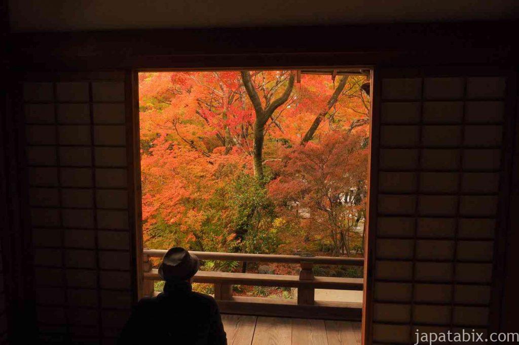 京都 嵯峨 宝筐院 額縁紅葉
