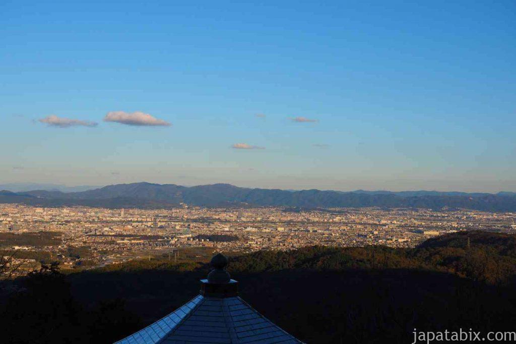 京都 西山 善峯寺 薬師堂の眺望