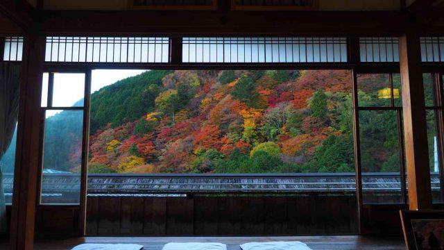 京都 西山 善峯寺 書院から見た紅葉