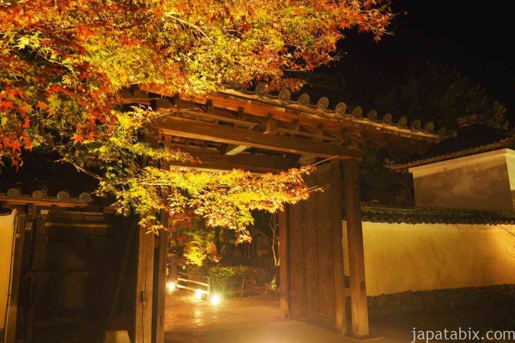 京都 嵯峨 鹿王院 夜間特別拝観 中門