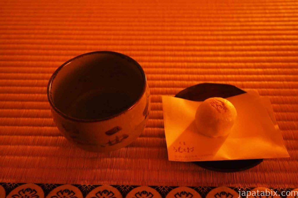 京都 嵯峨 鹿王院 夜間特別拝観 茶菓子