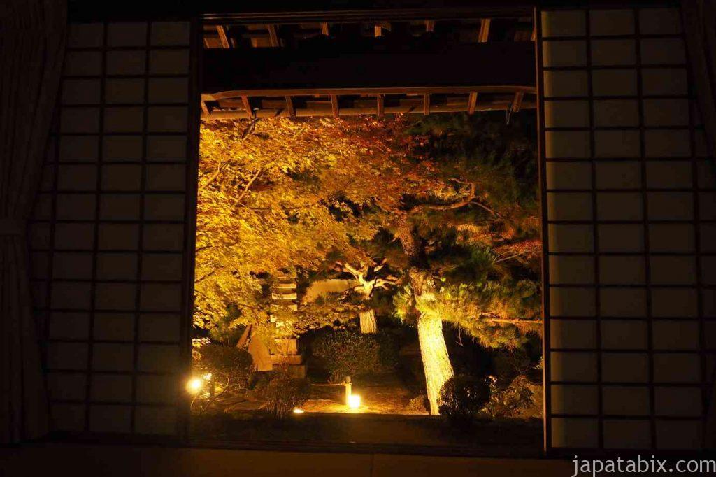 京都 嵯峨 鹿王院 夜間特別拝観 本庭 紅葉ライトアップ