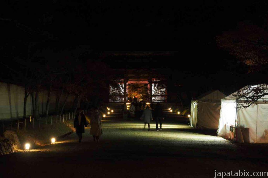 京都 醍醐寺 夜の参道