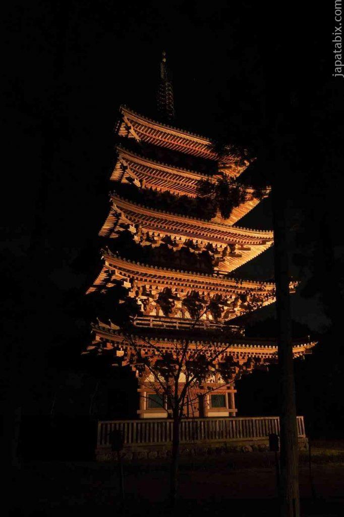 京都 醍醐寺 紅葉ライトアップ 五重塔