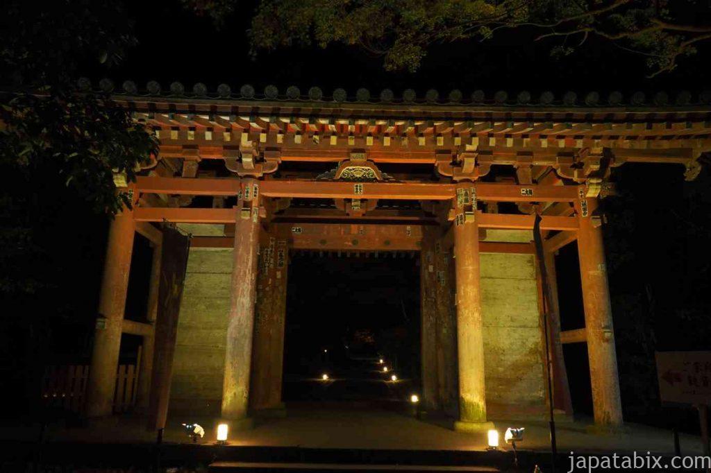 京都 醍醐寺 紅葉ライトアップ 日月門