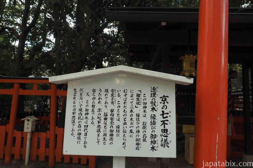 京都 下鴨神社 相生社 京の七不思議