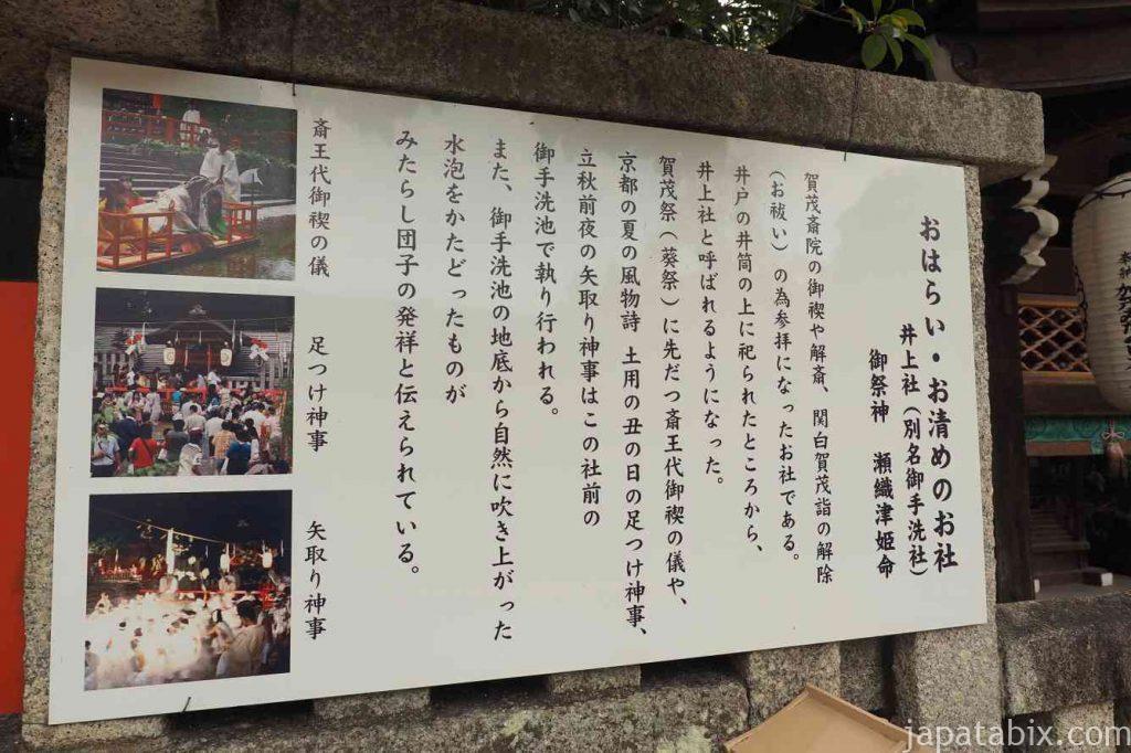 京都 下鴨神社 御手洗社 井上社