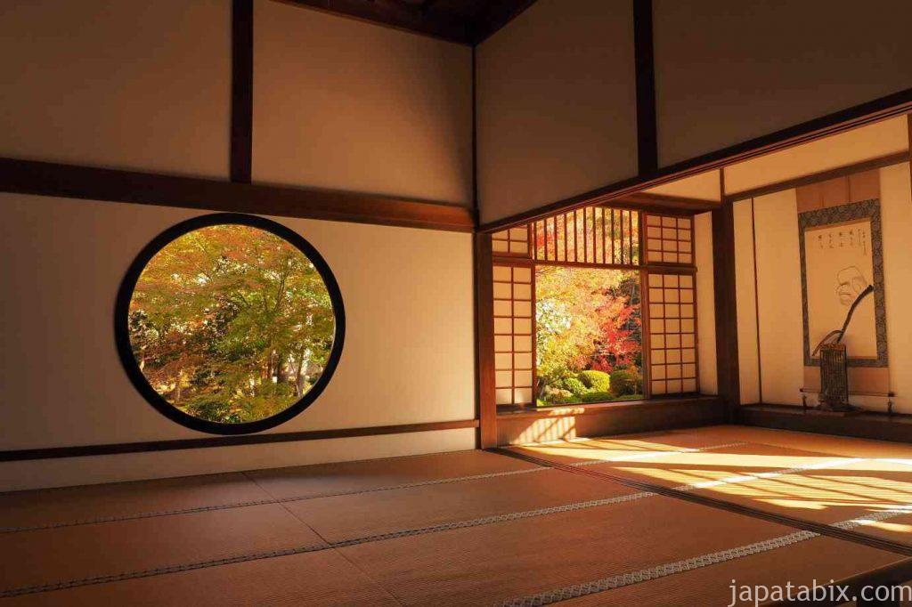京都 源光庵 紅葉 悟りの窓 迷いの窓