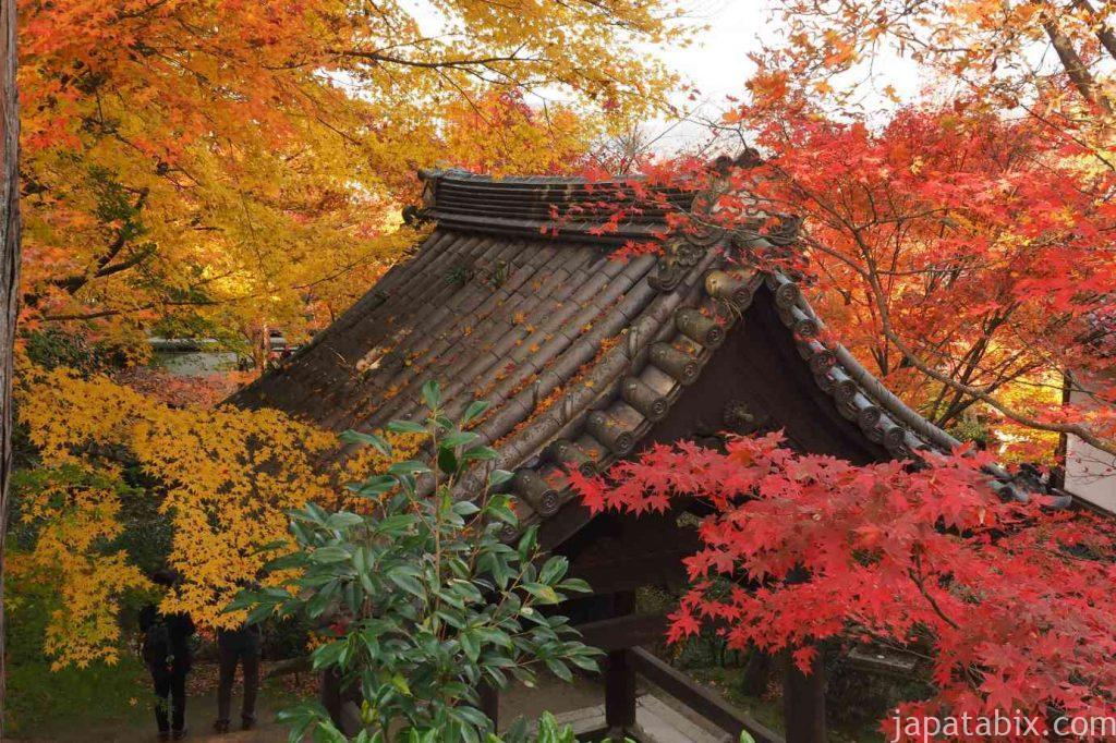 京都 圓光寺 鐘楼の紅葉