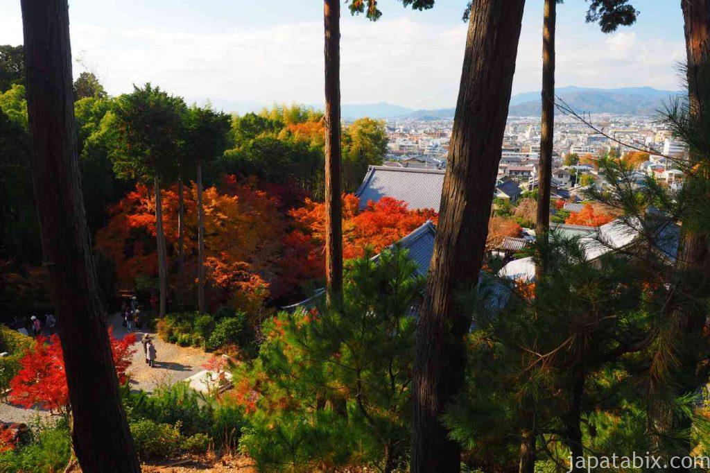 京都 圓光寺 高台から見る洛北の景色