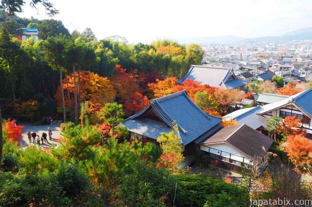 京都 圓光寺 高台から見る境内
