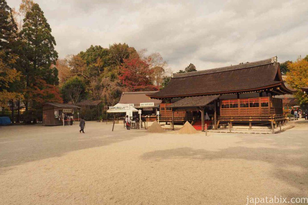 京都 上賀茂神社 細殿 立砂
