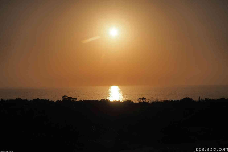 水曜どうでしょうロケ地巡礼 つり対決 屋久島 タイドプール 夕焼け
