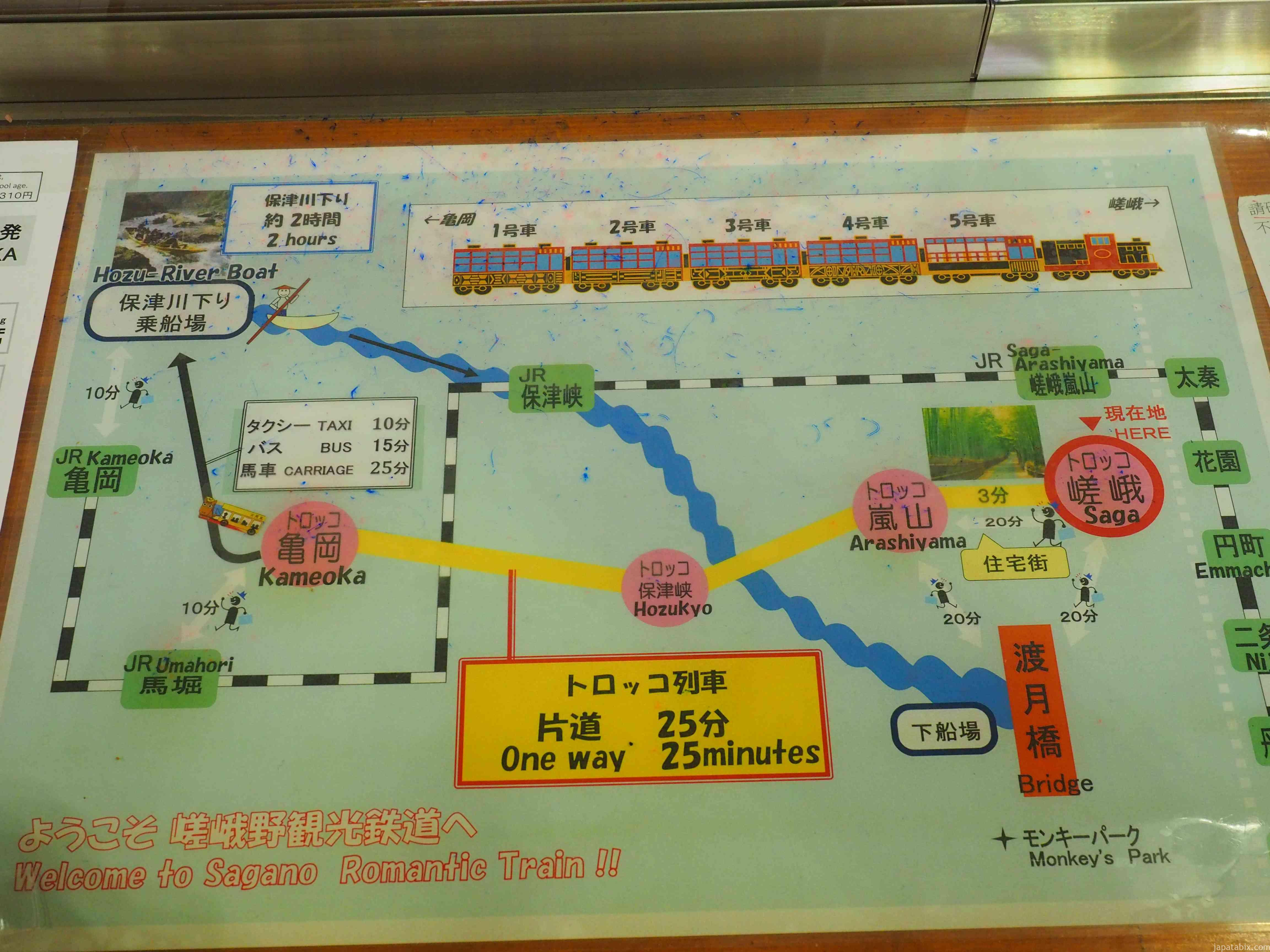 京都 トロッコ列車 コース