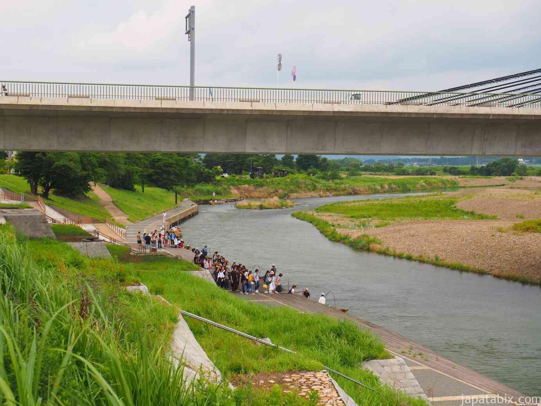 京都 トロッコ列車 保津川下り 乗り場