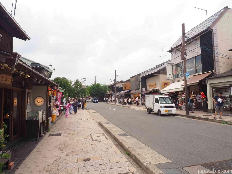 京都 嵐山商店街